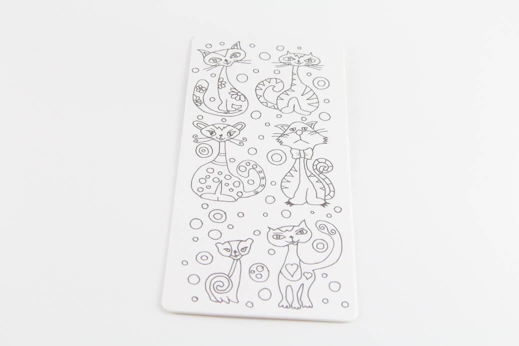 Boyanabilir Kedili Kitap Ayracı