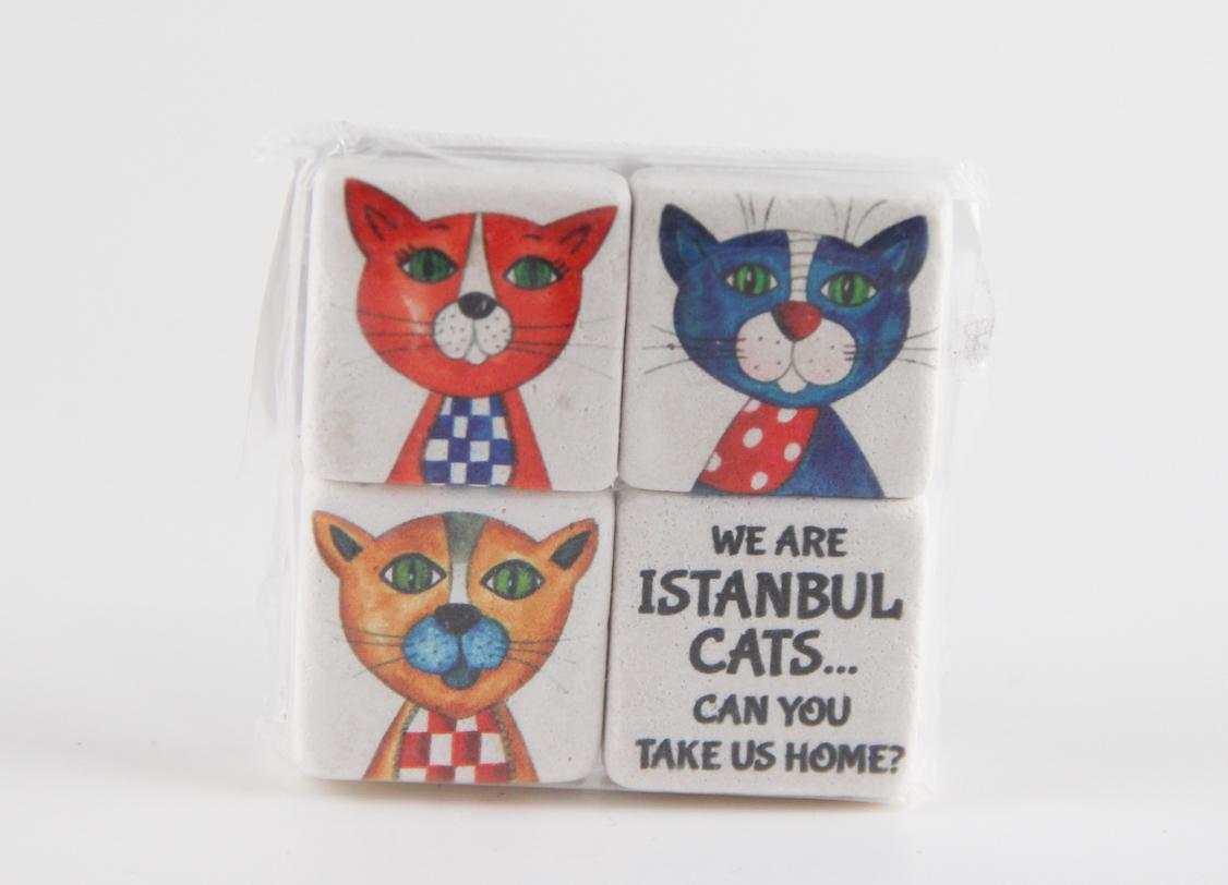 İstanbul Kedileri 4'lü Magnet