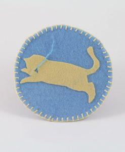Kedili Keçe Bardak Altlığı