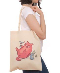 Keyifçi Kedili Çanta