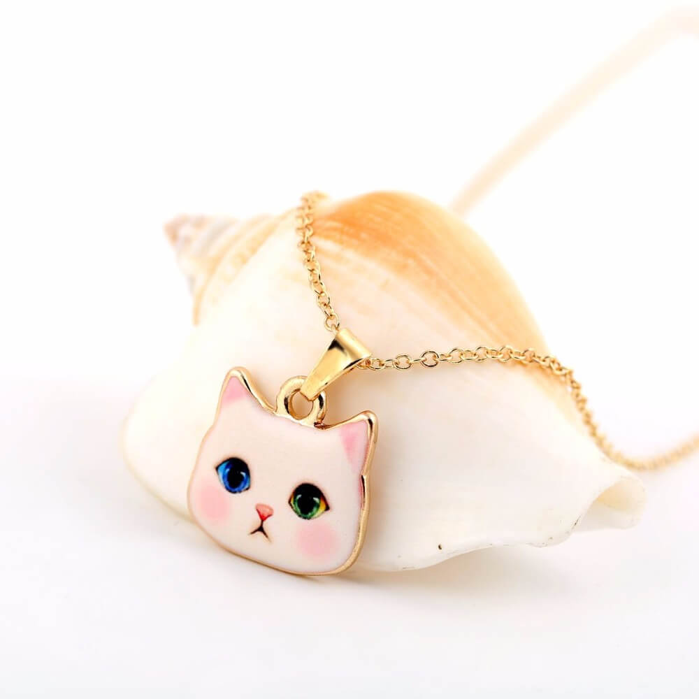 Pembe Kedili Kolye (Altın Kaplama)