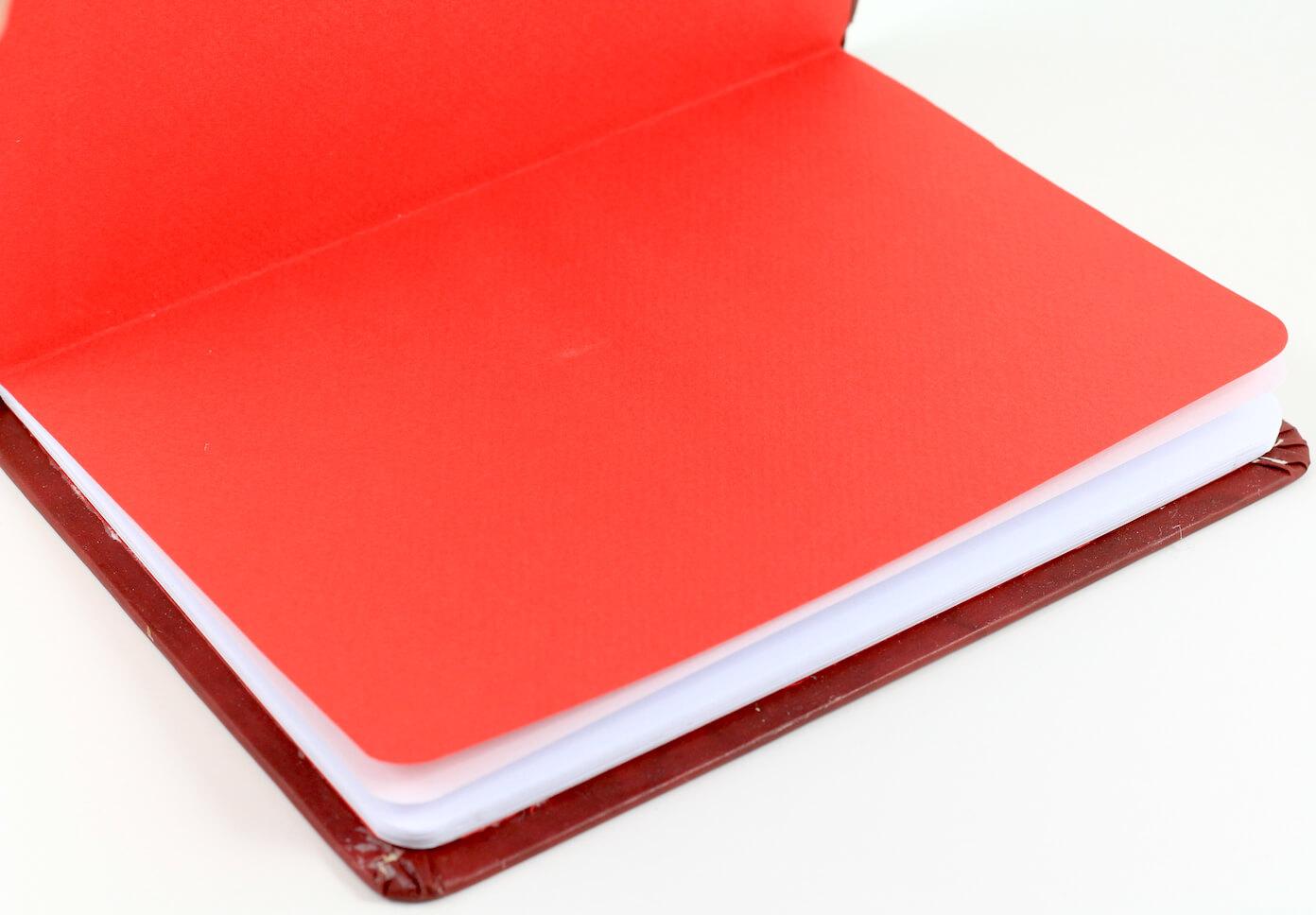 El Yapımı Kedili Defter (Kırmızı – Büyük)