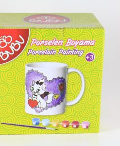 Kedili Porselen Kupa Boyama Seti