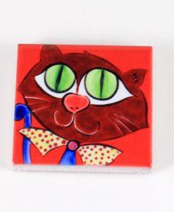 Kırmızı Kedili Magnet
