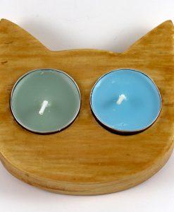 Çift Gözlü Kedili Mumluk