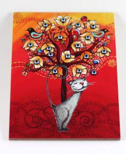 El Yapımı Nazar Boncuklu Kedili Süs