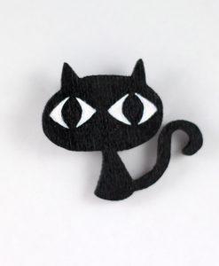 Kara Kedi Broş