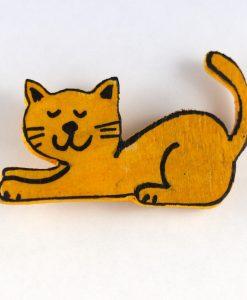 Mutlu Kedili Broş