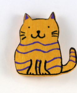 Tombiş Kedili Broş