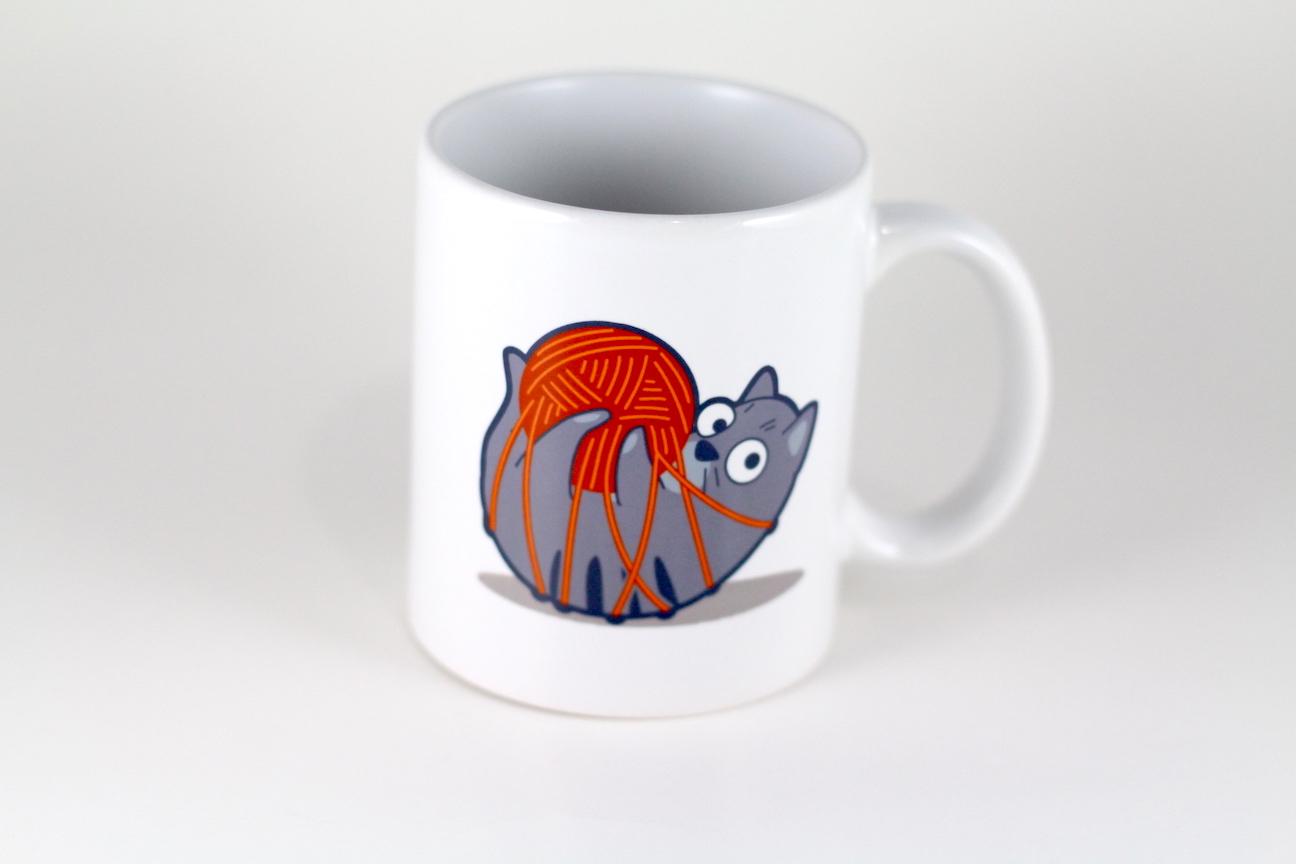Yumaklı Kedili Kupa