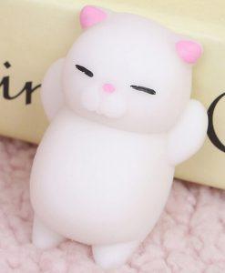 Yumuşak Stres Kedisi – Beyaz